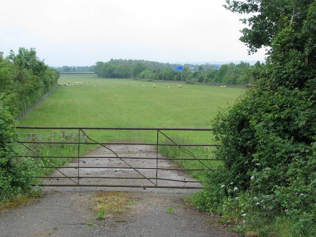 Gate into field near Chesterton