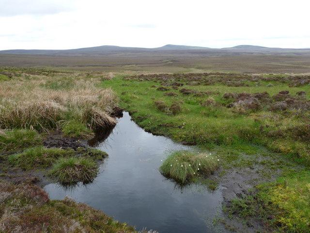 View across moorland towards Ben Alisky