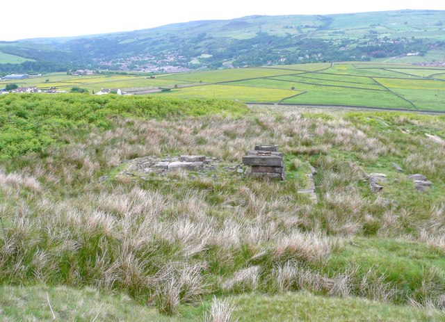 Relic of quarrying, Hey Head Green, Langfield, Todmorden