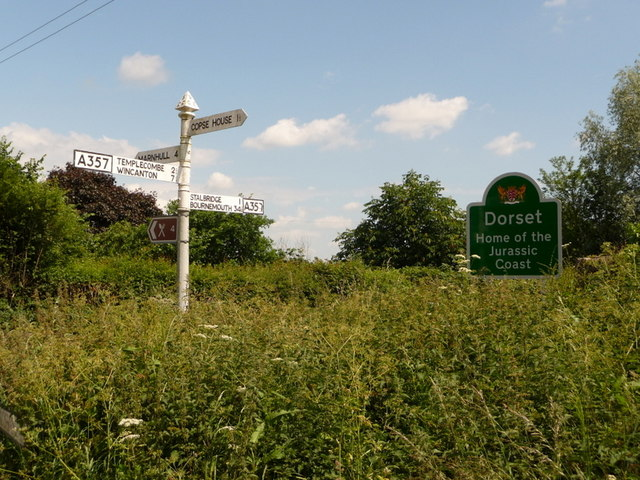 Henstridge: a Somerset signpost on the Dorset border