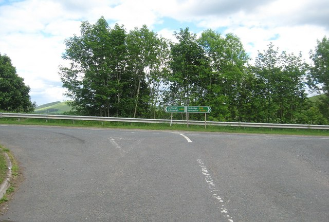 Junction of  Lethem road and the A68