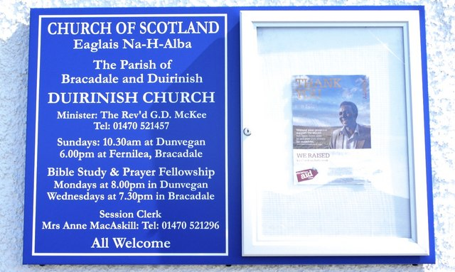 Church notice board, Dunvegan, Skye