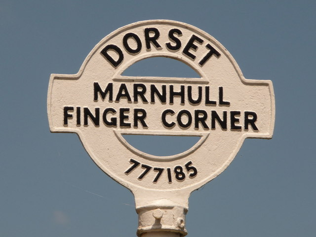 Marnhull: detail of Finger Corner finger-post