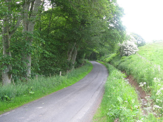Minor road wending its way through the countryside