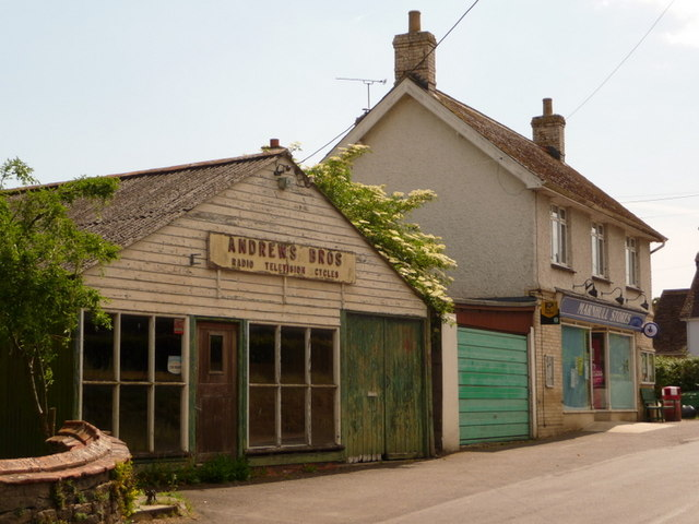Marnhull: village shop and old radio shop