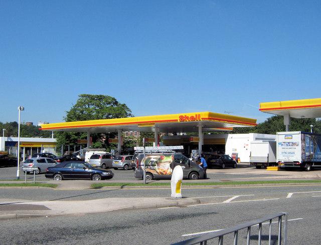 Shell garage