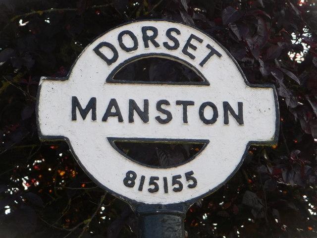 Manston: detail of finger-post finial
