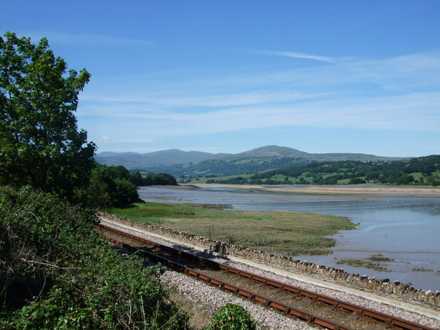 View from beside a bus stop in Glan Conwy