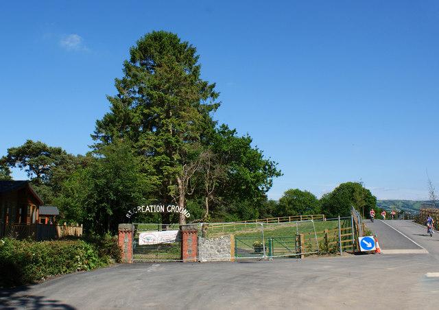 A recreation ground under development at Trefriw