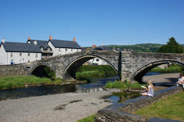 Pont fawr at Llanrwst