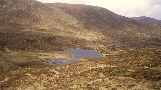 Loch Ruairidh from hillside