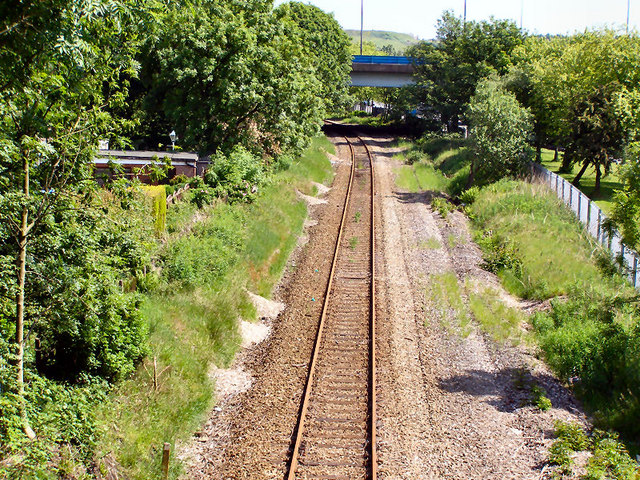 Railway from Ladyhouse Lane