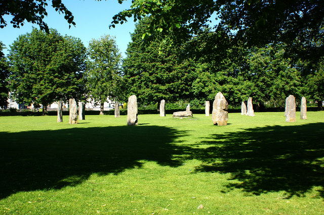 Standing stones at Gwydir Castle