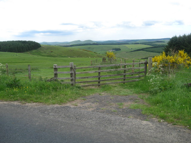 A gate to the fields near Mervins Law