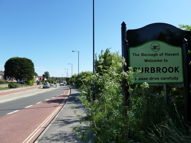 Purbrook boundary with Waterlooville