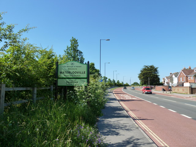 Waterlooville boundary with Purbrook