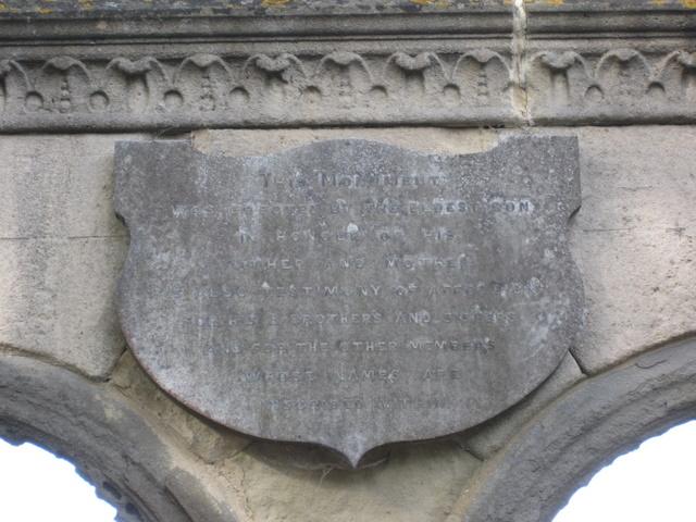 Plaque inside the Rudston memorial