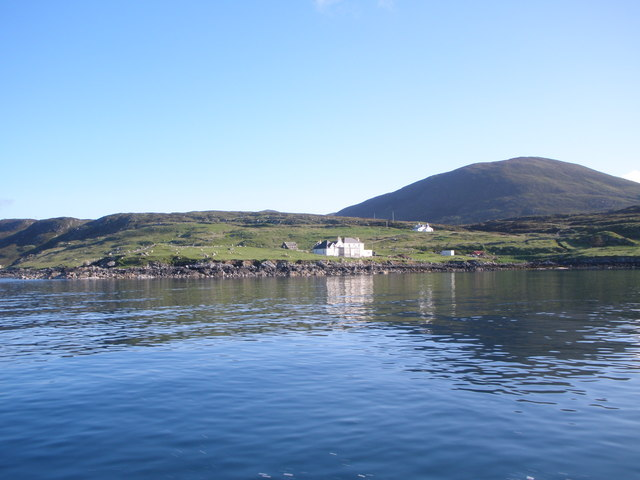 House overlooking the Sound of Harris