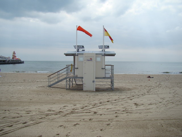 Lifeguard station on Bournemouth beach