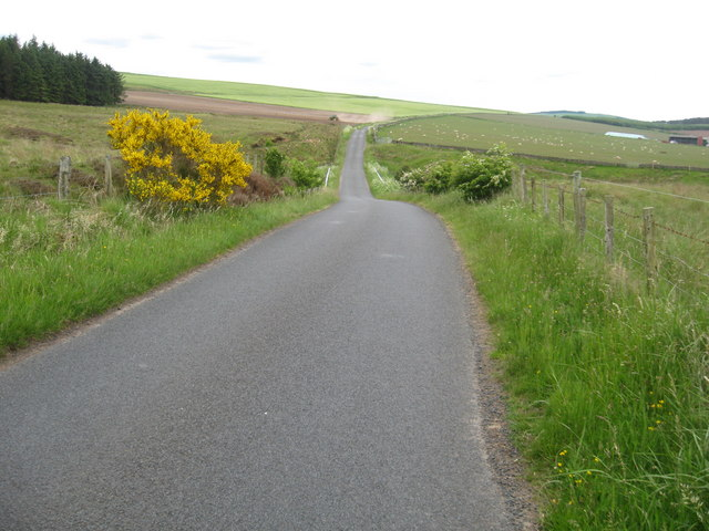 Hill road passing Westerhouses