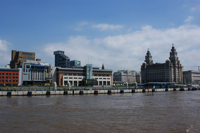 Part of the Liverpool waterfront