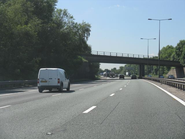 M62 Motorway - Liverpool & Manchester railway bridge