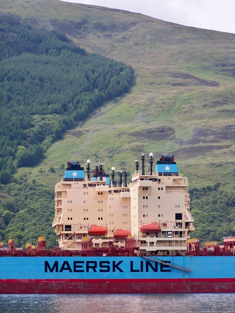 Maersk Boston Container Ship - Port Detail