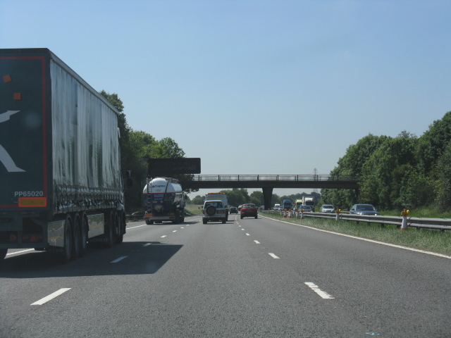 M62 Motorway near Barton Moss footbridge