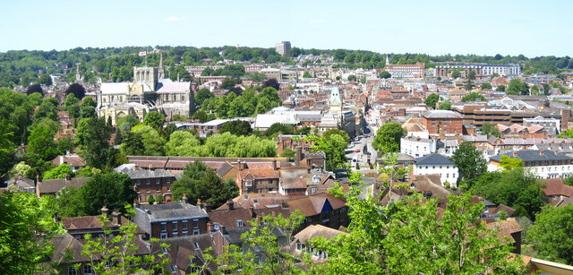 View from St Giles's Hill
