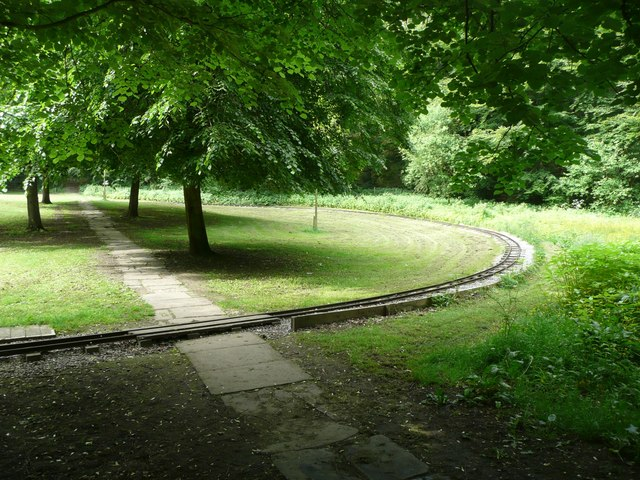 The miniature railway, Shibden Park, Northowram