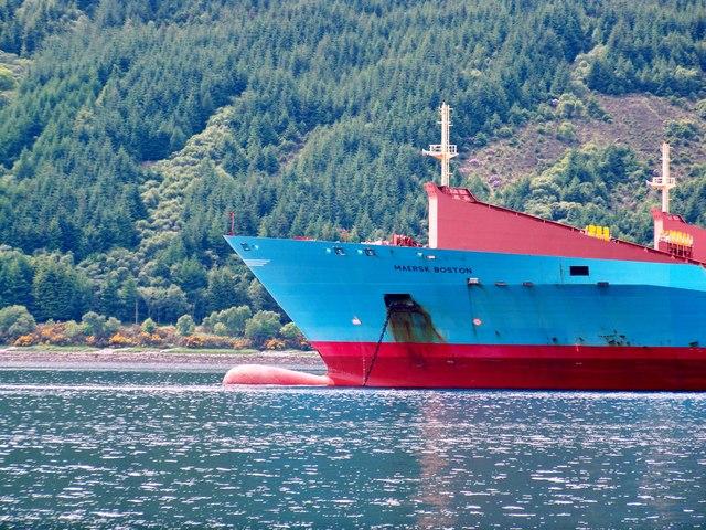 Maersk Boston Bow Detail