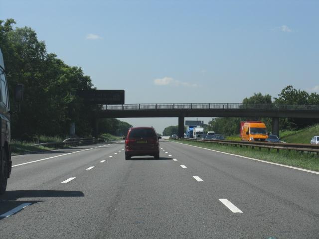 M62 Motorway near Barton Grange bridge