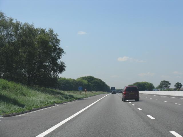 M62 Motorway west of Barton Grange bridge