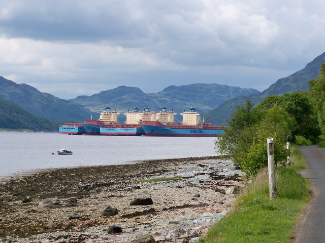 Maersk Container Ships In Loch Striven