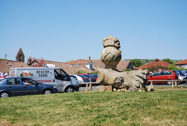 Interesting art, top of the hill, Robin Hood's Bay