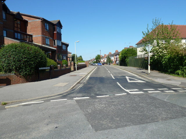 Looking from Stakes Road into Aldermoor Road