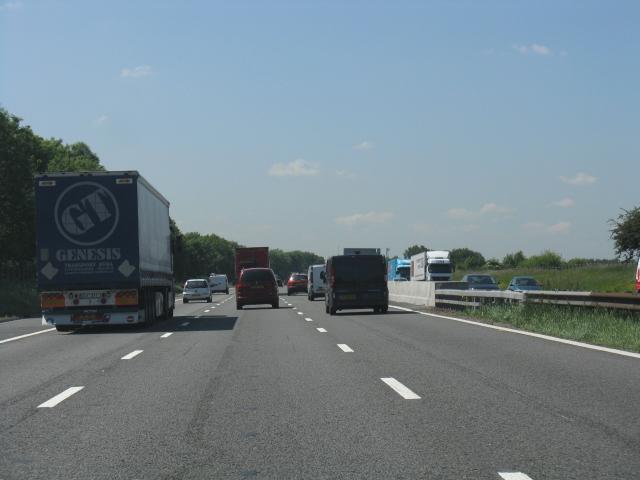 M62 Motorway near Irlam