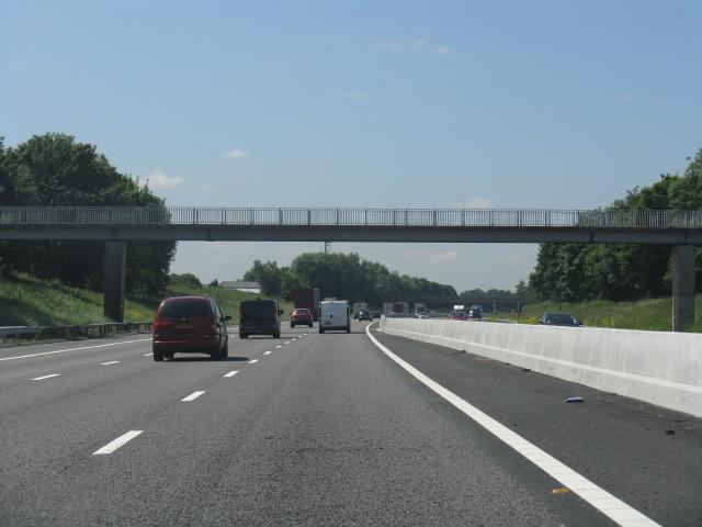 M62 Motorway - footbridge near Hephzibah Farm