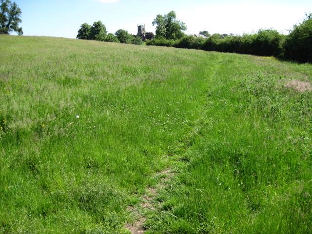 Footpath towards Church Mayfield