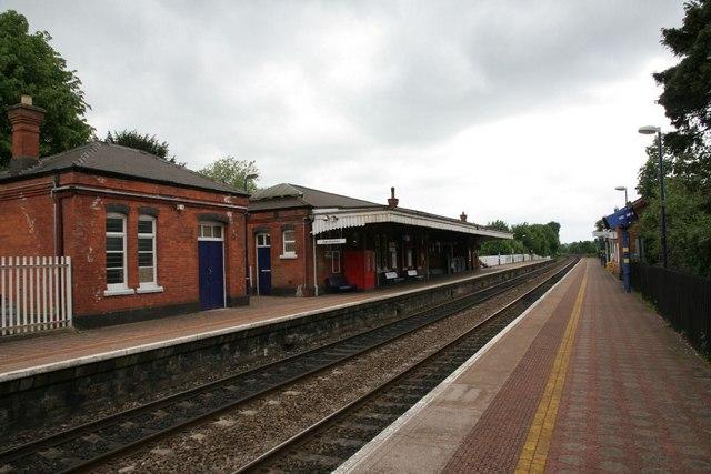 Along platform one