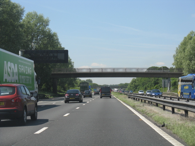 M62 Motorway - overbridge near Great Woolden Hall