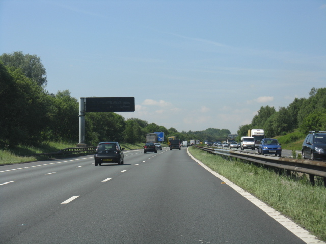 M62 motorway at Holcroft Moss