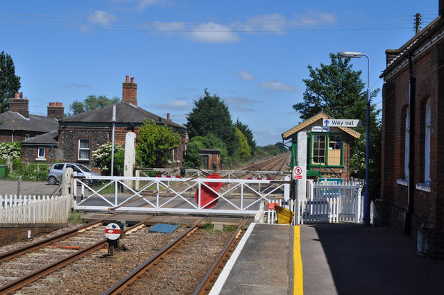 Harling Road Station and Level Crossing
