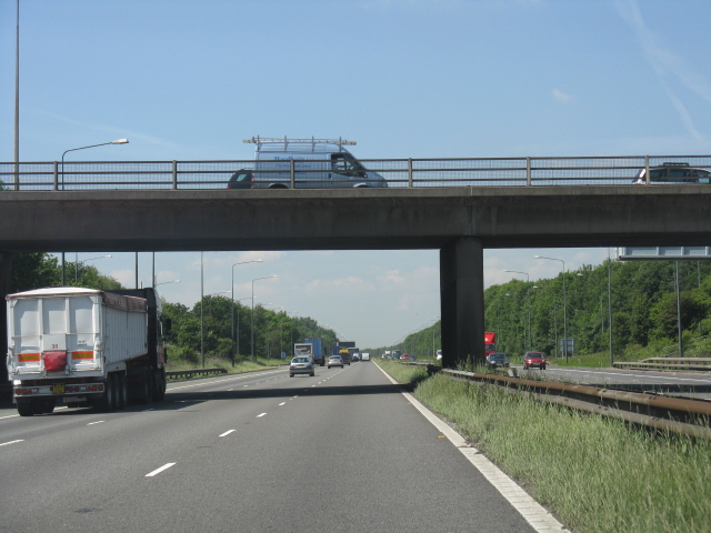M62 motorway - Junction 11 bridge