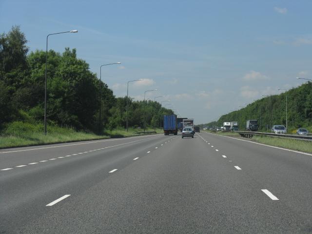 M62 motorway, west of junction 11