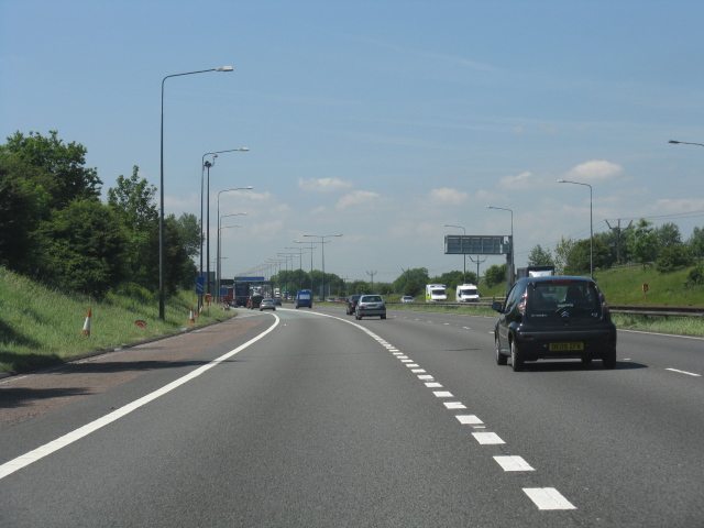 M62 motorway - westbound slip lane, junction 12