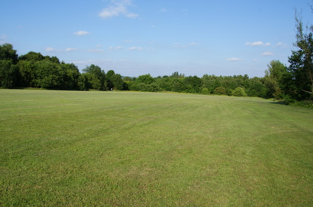 A large mown grassy area
