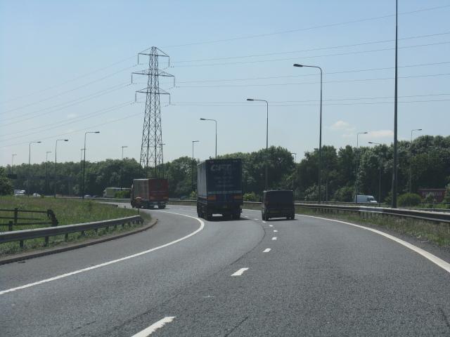 Croft Interchange - West to South slip road