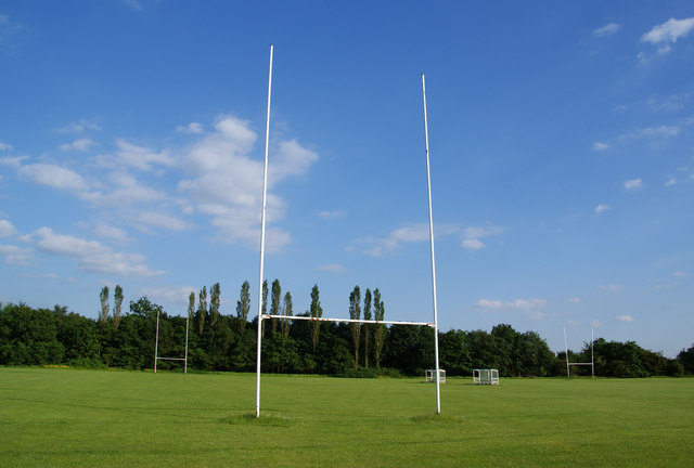 Rugby posts at Hopwood Hall College