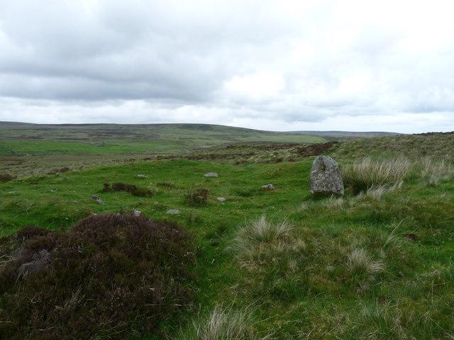 Hut circle near Achnaclyth